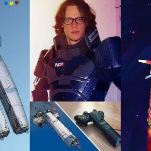 Ngắm nhìn những bức tranh tàu vũ trụ từ những vật dụng trong nhà
