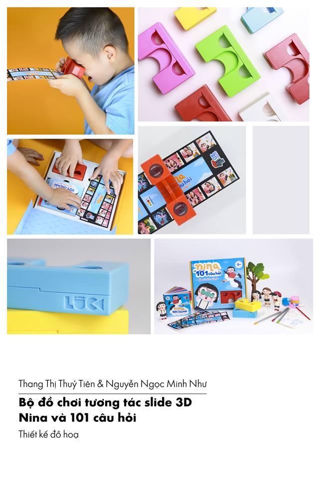 Thang Thị Thủy Tiên & Nguyễn Ngọc Minh Như  Bộ đồ chơi tương tác slide 3D: Nina và 101 câu hỏi Đại học Hoa Sen