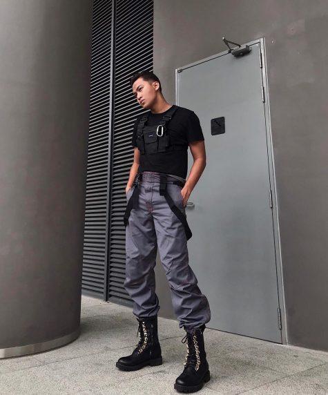 Kenshj làm chủ outfit đường phố được lấy cảm hứng từ Dior Pre-Fall 2019. Ảnh: Instagram @kenshj_pham