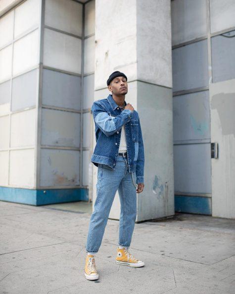 Darion góp mặt trong bảng xếp hạng thời trang sao nam với phong cách bụi bặm mà vẫn nổi baakt và tươi mới. Ảnh: Instagram @darion_famous