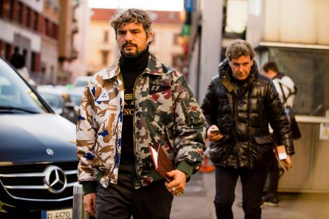 Họa tiết rằn ri xuất hiện tại Tuần lễ thời trang Milan nam 2019. Ảnh: GQ UK