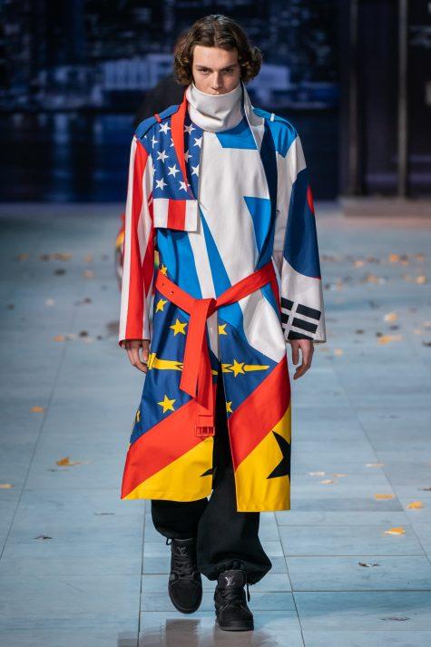 """Những lá cờ của các quốc gia đan cài tạo nên tinh thần """"We are one"""". Ảnh: Vogue"""