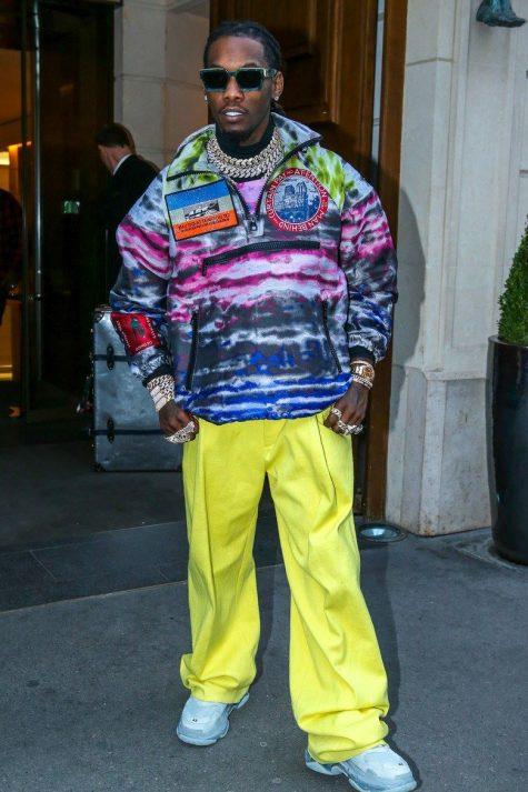 Rapper Offest xếp vị trí thứ 3 trong top thời trang sao nam ấn tượng tuần này. Ảnh: Vogue