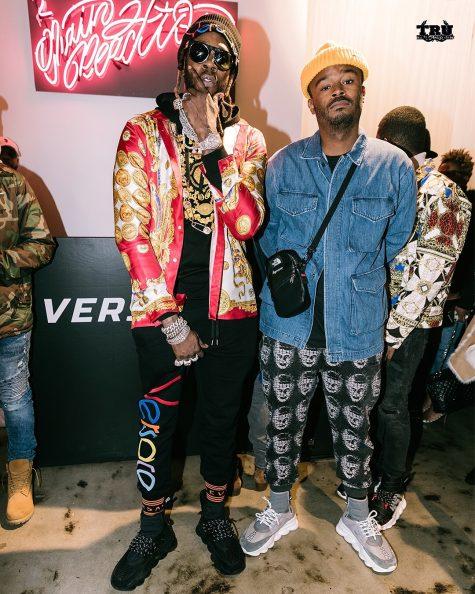 2 Chainz (trái) xuất sắc giữ vịt rí quán quân sau nhiều lần góp mặt trong top thời trang sao nam nổi bật. Ảnh: Instagram @ salehebembury