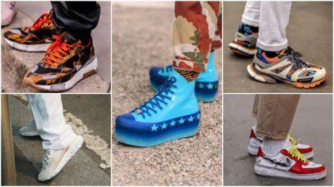 Những thiết kế giày thể thao sặc sỡ tại Tuần lễ thời trang Milan 2019