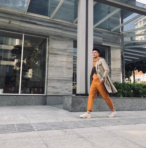 Mạc Trung Kiên thu hút với hoodie và áo coat bắt mắt. Ảnh: Facebook Mạc Trung Kiên