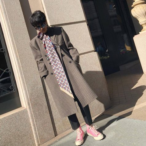 Stylist Han Hou Hou cán mốc ở vị trí á quân trong top thời trang sao nam. Ảnh: Instagram @hanhuohuo