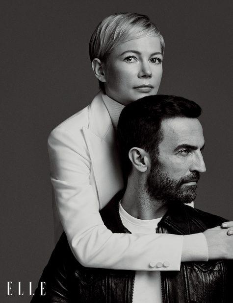 Nicolas Ghesquière và vợ Michelle Williams.