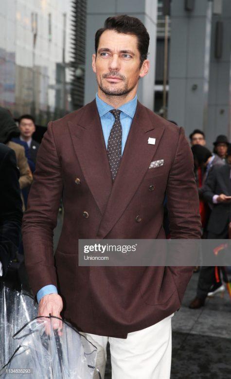 David Gandy cuống hút với vẻ ngoài U40 nhưng cực kỳ nam tính trong bộ suit cổ điển. Ảnh: Getty Immages