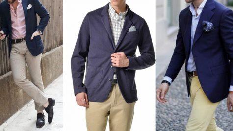 Gợi ý phối áo khoác blazer nam xanh navy cho 7 ngày