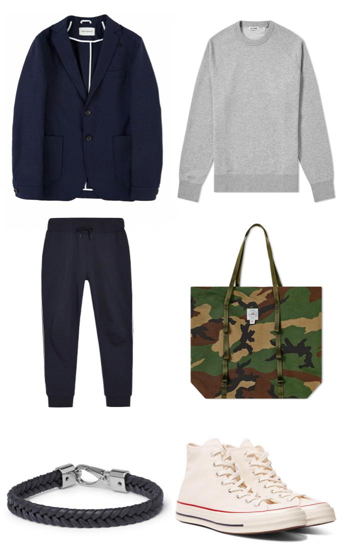 Áo khoác blazer nam navy 1 ELLE Man 6