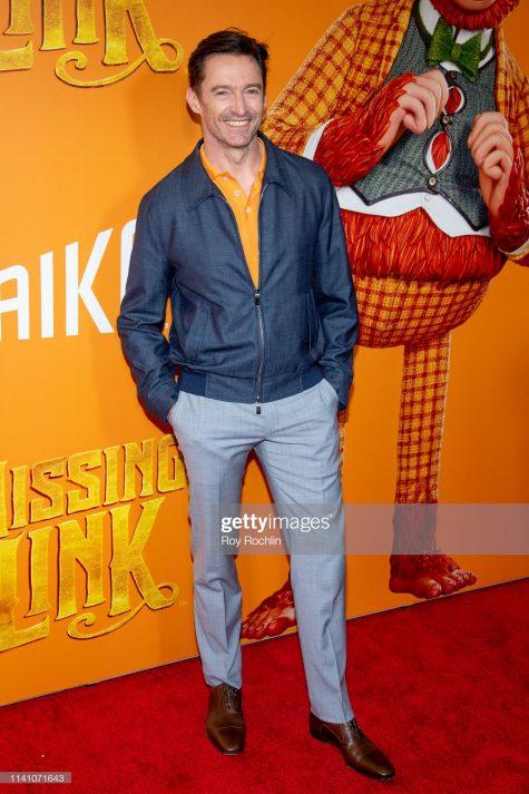 Hugh Jackman mang đến màu sắc tươi trẻ cho outfit tham dự sự kiện. Ảnh: Getty Images
