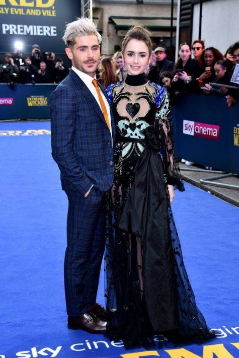 Zac Efron và Lily Collins có mặt tại sự kiện ở London, Anh hôm 24/4. Ảnh: Daily Mail