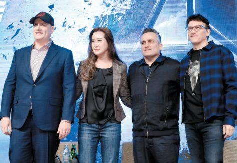 Từ trái qua: Kevin Feige, Trinh Tran, Joe Russo, Anthony Russo – những con người đã kiến tạo nên tượng đài MCU ảnh: Chung Sung-Jun