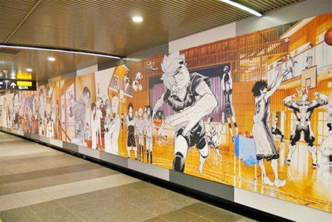 bức tường anime tại ga shibuya thủ đô tokyo 1