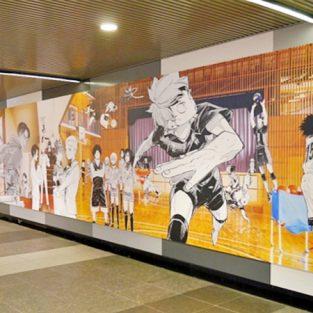 Bức tranh anime dài hơn 30m tại ga Shibuya của thủ đô Tokyo