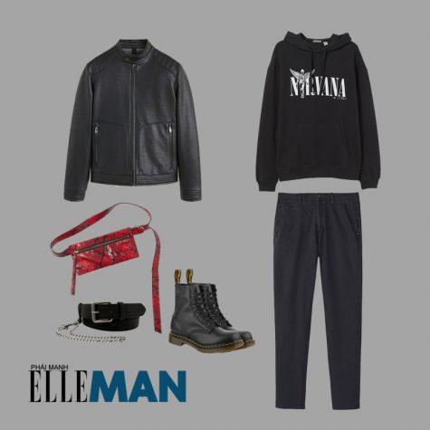 Túi: H&M (Mua hàng tại ĐÂY) | Áo khoác: Mango | Áo hoodie: H&M | Quần: Massimo Dutti | Thắt lưng: Pull&Bear | Giày: Dr.Marten