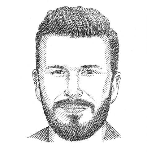 Hình dáng khuôn mặt hình chữ nhật cùng kiểu râu phù hợp