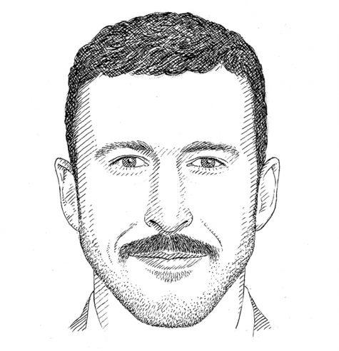 Hình dáng khuôn mặt hình tam giác cùng kiểu râu phù hợp