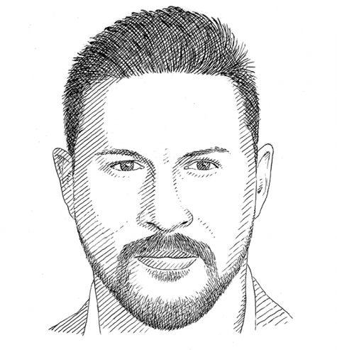 Hình dáng khuôn mặt tròn cùng kiểu râu phù hợp