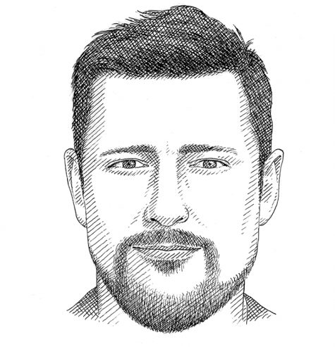 Hình dáng khuôn mặt vuông cùng kiểu râu phù hợp