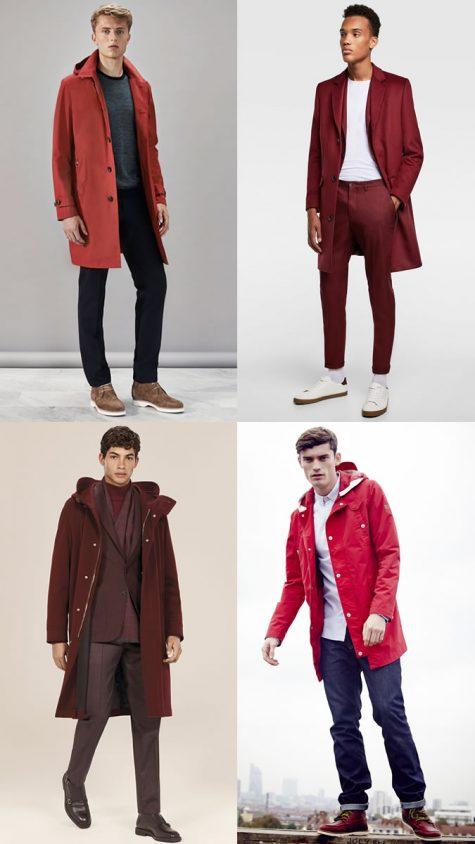 quý ông mặc áo khoác đỏ