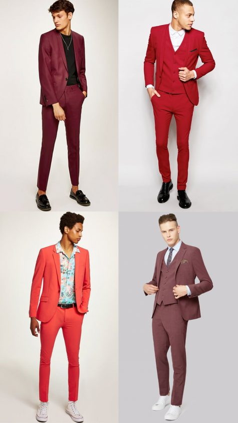 Quý ông mặc suit đỏ