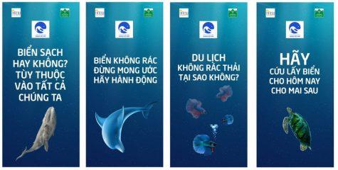 thông điệp của dự án Vì một môi trường biển không rác thải