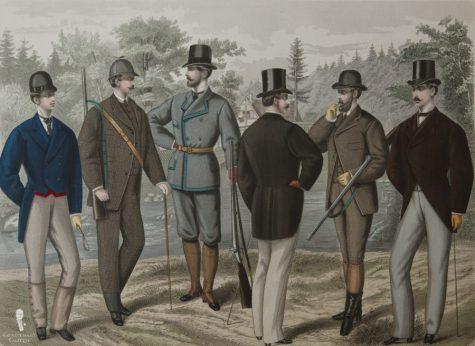 tranh họa 6 quý ông hoàn hảo Anh Quốc vào năm 1875