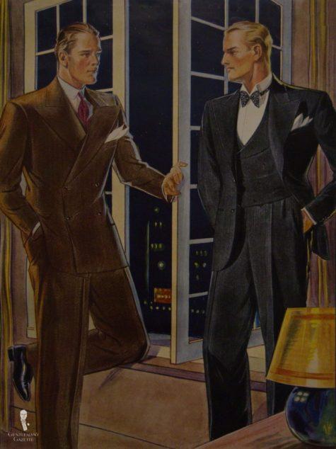 2 quý ông hoàn hảo ăn mặc đẹp năm 1930s