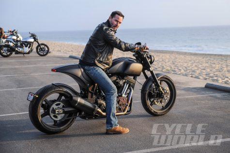 diễn viên keanu reeves - sở hữu công ty sản xuất mô tô riêng