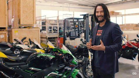 diễn viên Keanu Reeves tại xưởng Arch Moto