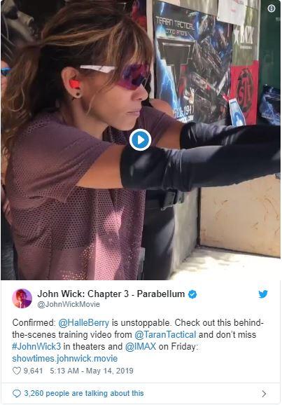 twitter phim sát thủ john wick halle berry luyện tập bắn súng