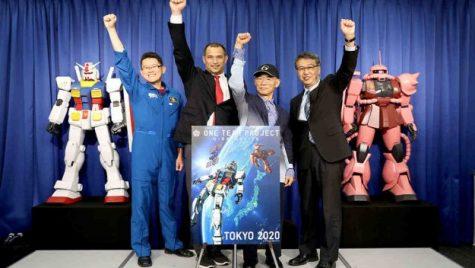 thế vận hội tokyo 2020 - gundam ra ngoài vũ trụ