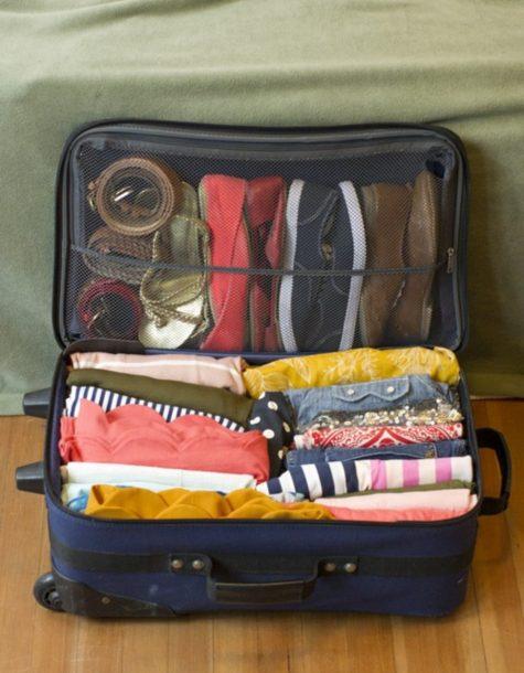 đóng gói sắp xếp hành lý hợp lý