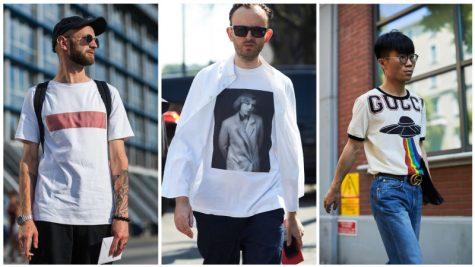 áo thun nam đẹp - nam giới mặc áo thun in