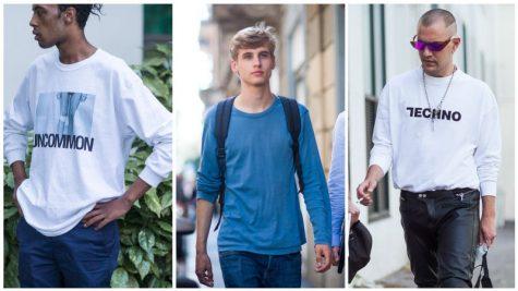 áo thun nam đẹp - nam giới mặc áo thun tay dài
