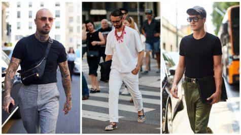áo thun namđẹp - nam giới mặc áo thun trơn