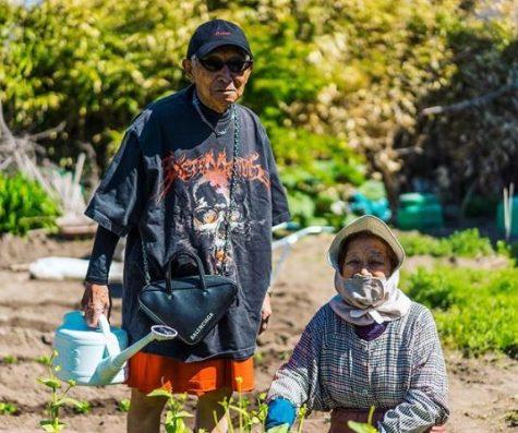 thời trang đường phố của cụ ông silver tetsuya làm vườn