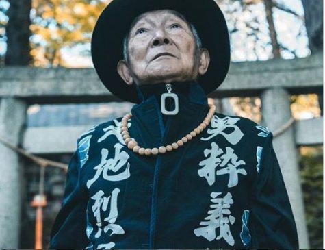 thời trang đường phố của cụ ông silver tetsuya nhìn xa xăm