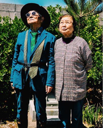 thời trang đường phố của cụ ông silver tetsuya và vợ