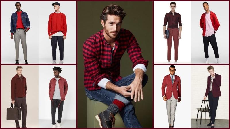 Phối trang phục với màu đỏ