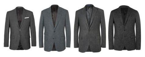 áo blazer nam-các loại áo blazer xám đậm