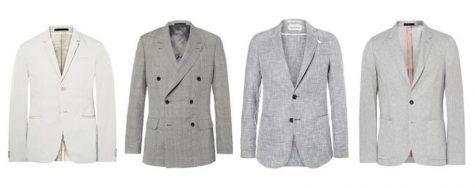 áo blazer nam-các loại áo blazer xám nhạt