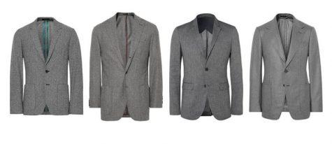 áo blazer nam-các loại áo blazer xám trung