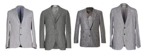 áo blazer nam-các loại áo blazer xám vải linen