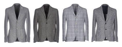 áo blazer nam-các loại áo blazer xám vải tweed
