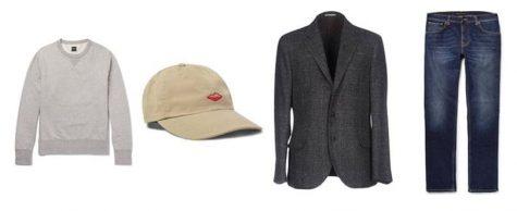 áo blazer nam-kết hợp áo blazer xám và quần jeans