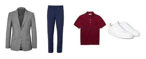 áo blazer nam-kết hợp áo blazer xám và quần xám