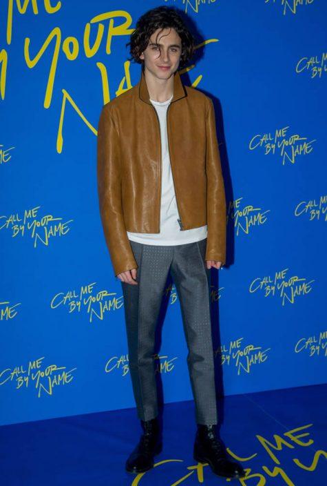 diễn viên Timothée Chalamet tại sự kiện ra mắt Call Me By Your Name